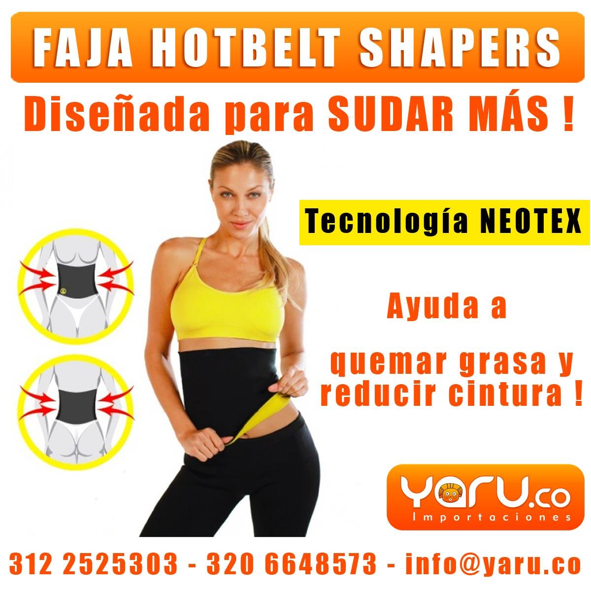 Faja Hot Belt Hombre Mujer Reductora YARU 38a6c4d1365b8