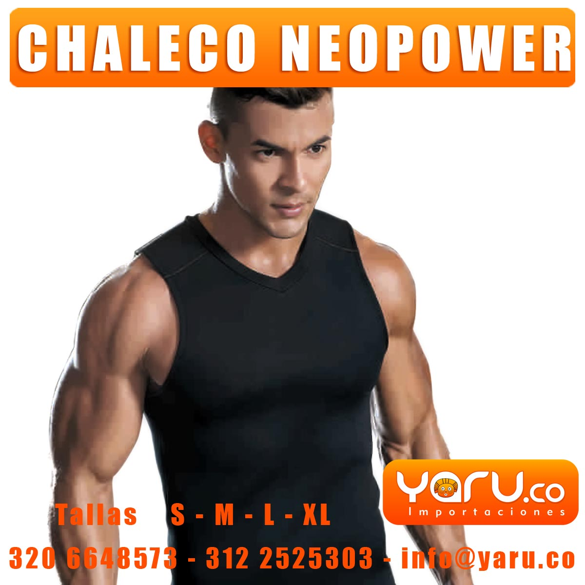 Chaleco NeoPower Hombre Reductor