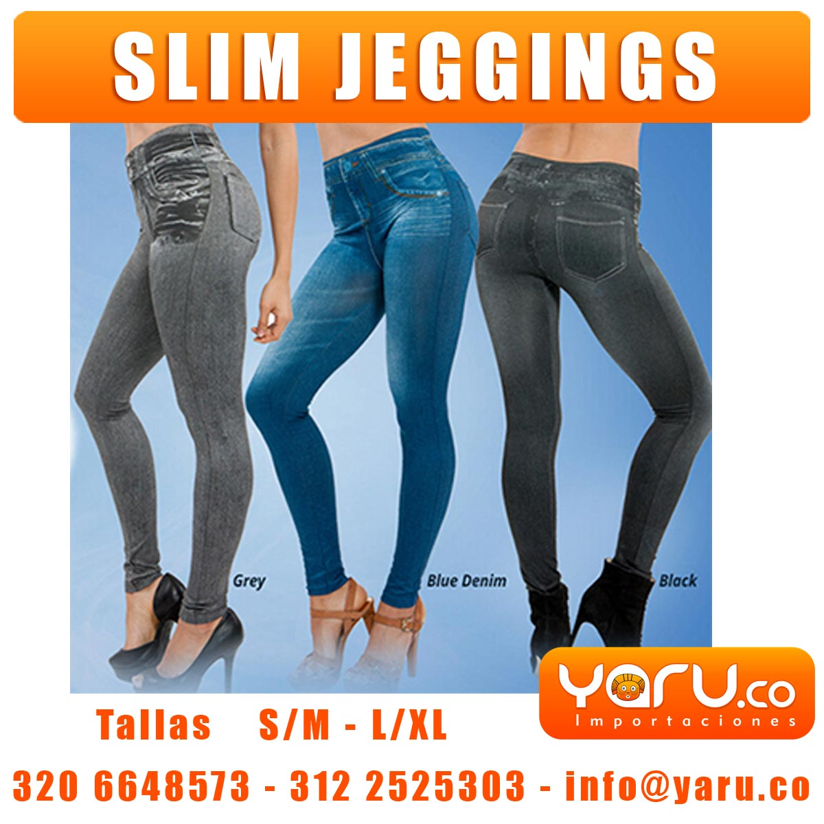 Slim jeggings tallas