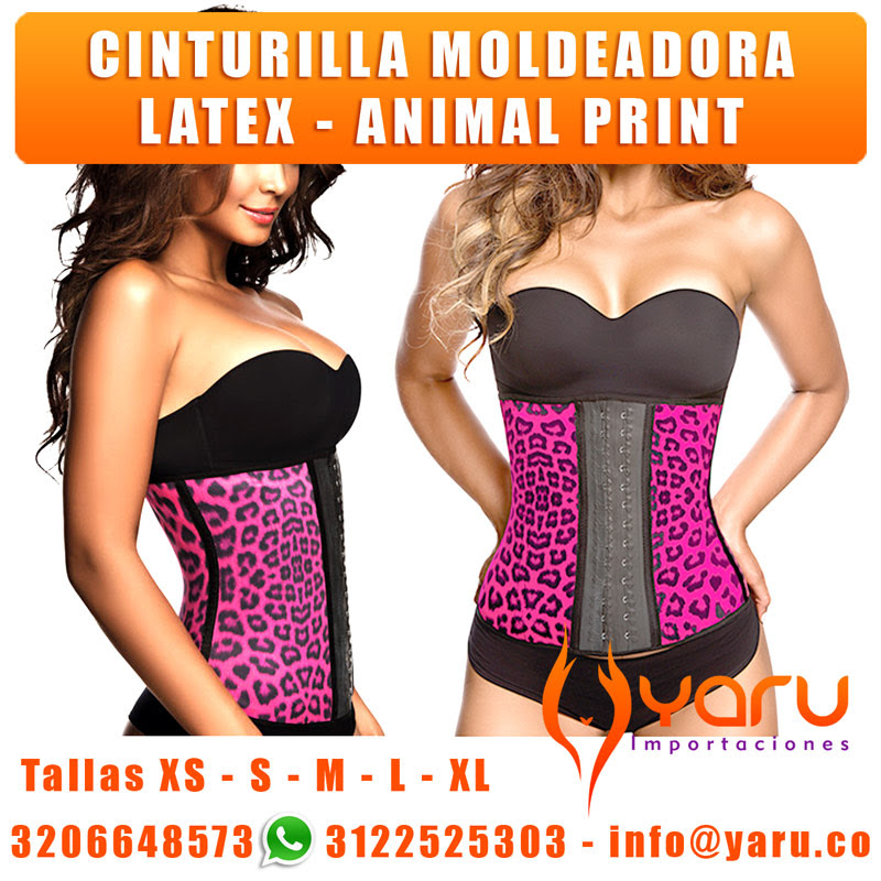 Faja Cinturilla Latex Deportiva Animal Print
