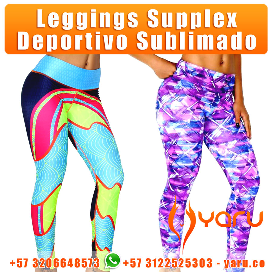 Legging Supplex Deportivo Sublimado YARU Fabrica Colombiana Ropa Deportiva