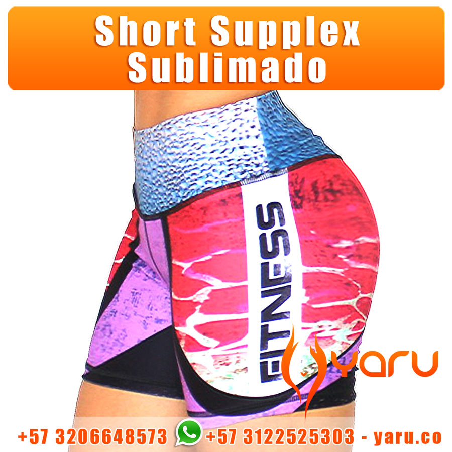 Short Supplex Sublimado YARU Fabrica Colombiana Ropa Deportiva