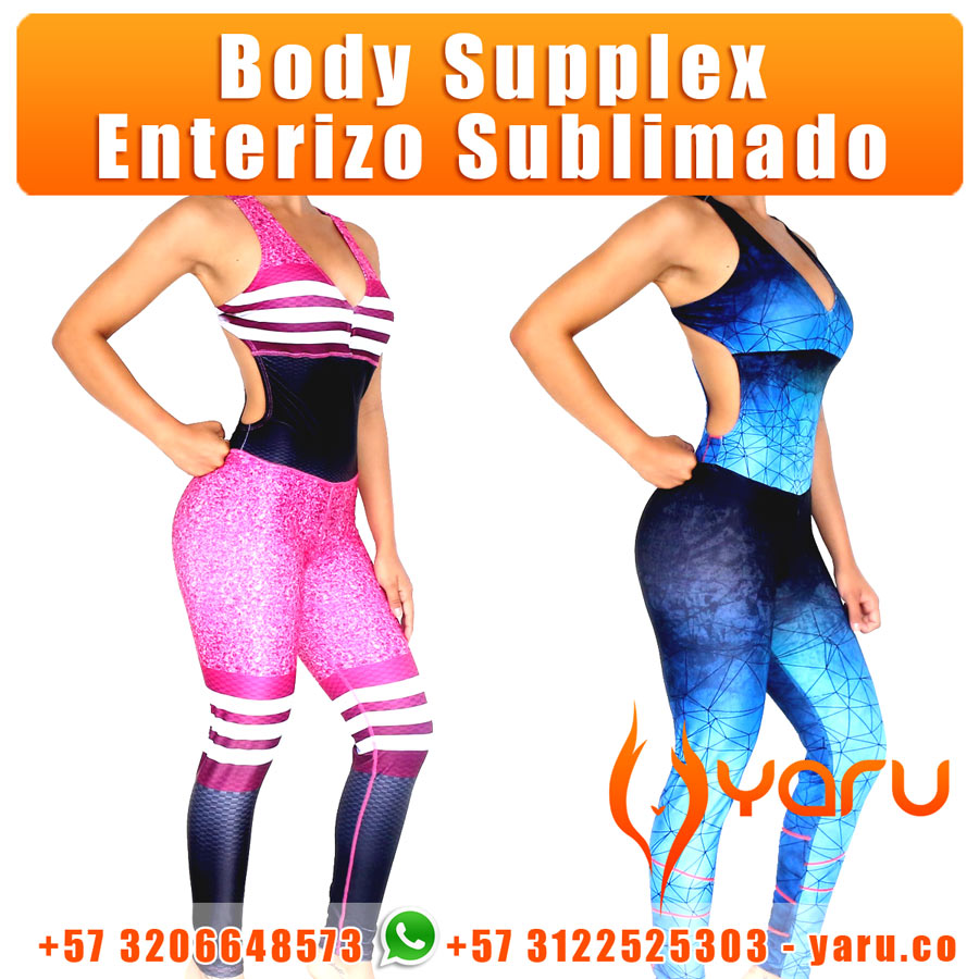 6ad49cfc4d0b1 Body Supplex Enterizo Sublimado YARU fabrica Colombiana Ropa Deportiva