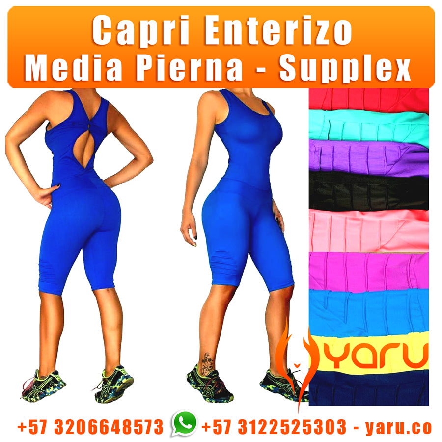 4533cb238038e Capri Enterizo Supplex Media Pierna. Este Capri YARU lo fabrica ...