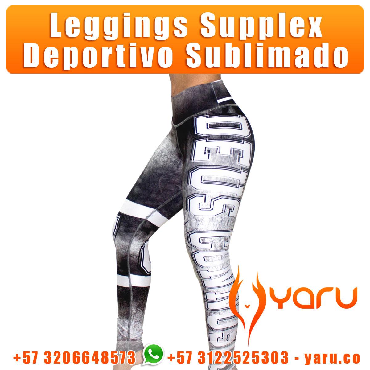 YARU fabrica ropa deportiva colombiana leggings supplex blusas cacheteros