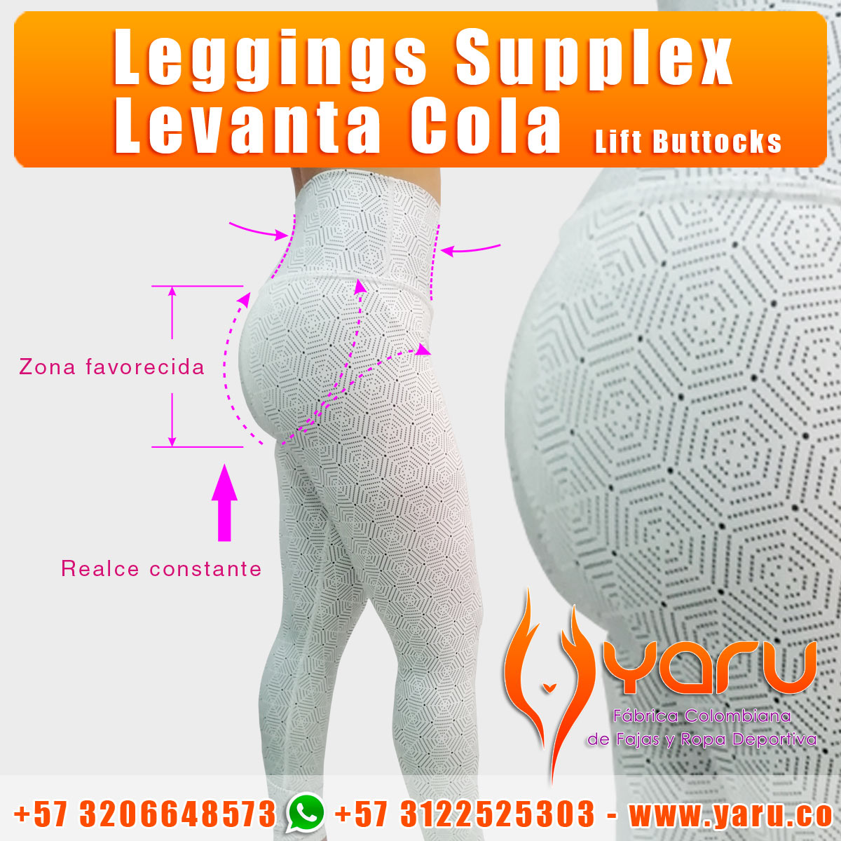 leggings supplex sublimado levantacola lift buttocks wholesaler fabrica Colombiana Ropa Deportiva 2019